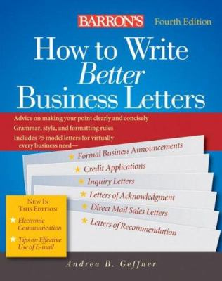 Barron's How to Write Better Business Letters 9780764135392