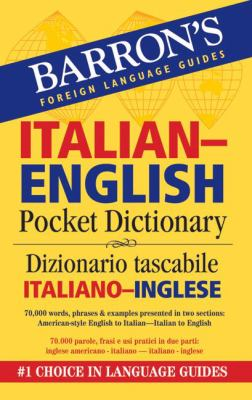 Barron's Italian-English Pocket Dictionary: Dizionario Tascabile Italiano-Inglese 9780764140044