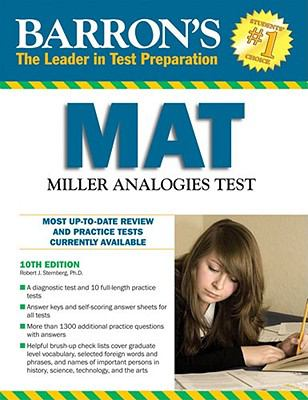 Barron's MAT: Miller Analogies Test 9780764142352