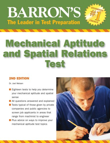 Barron's Mechanical Aptitude and Spatial Relations Test 9780764141089