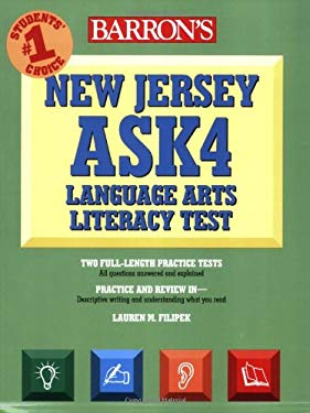 Barron's New Jersey ASK4 Language Arts Literacy Test 9780764137891