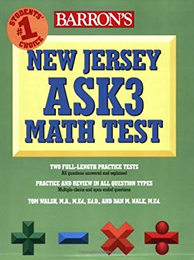 Barron's New Jersey Ask3 Math Test 9780764139239