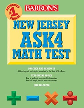 Barron's New Jersey Ask4 Math Test 9780764141362