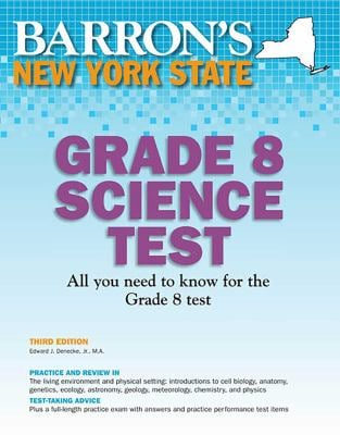 Barron's New York State Grade 8 Science Test 9780764146213