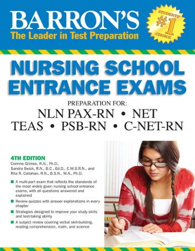 Barron's Nursing School Entrance Exams 9780764146688