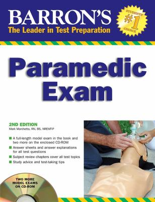 Barron's Paramedic Exam [With CDROM] 9780764195587