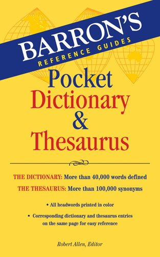 Barron's Pocket Dictionary & Thesaurus 9780764143052