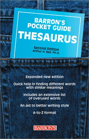 Barron's Pocket Guide Thesaurus 9780764119958