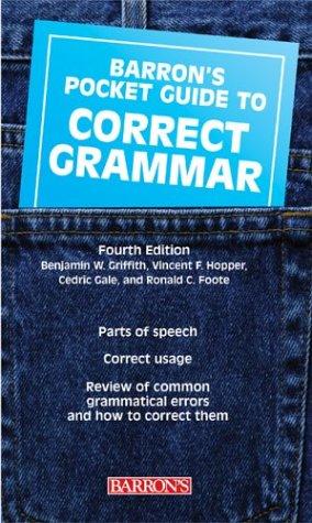 Barron's Pocket Guide to Correct Grammar 9780764126901