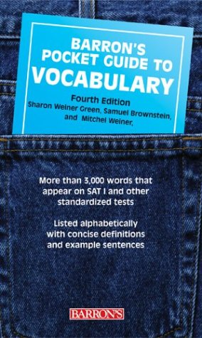 Barron's Pocket Guide to Vocabulary 9780764126949