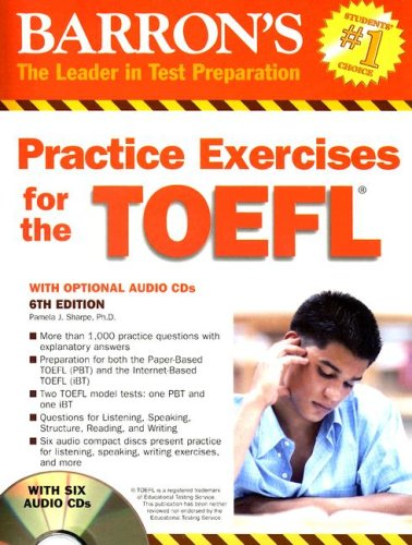 Barron's Practice Exercises for the TOEFL [With 6 CDs] 9780764193170