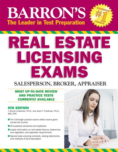 Barron's Real Estate Licensing Exams: Salesperson, Broker, Appraiser 9780764142376