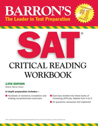 Barron's SAT Critical Reading Workbook 9780764141959
