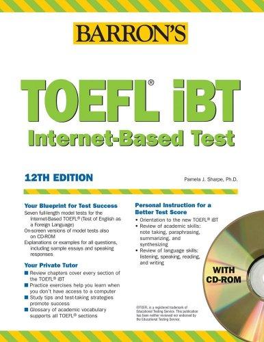 Barron's TOEFL Ibt Internet-Based Test [With CDROM] 9780764179051