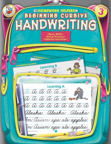 Beginning Cursive Writing, Homework Helpers, Grade 3 9780768207156