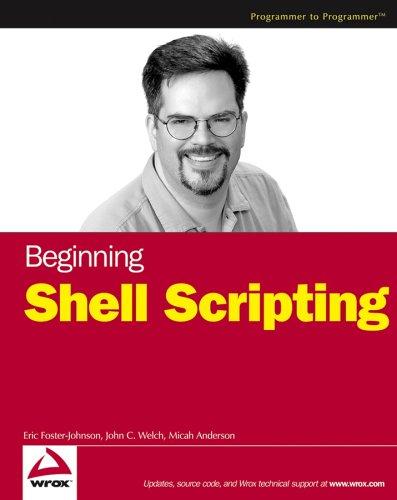 Beginning Shell Scripting 9780764583209