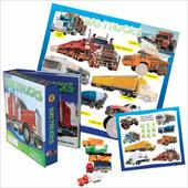 Big Trucks Vehicle Play Set [With Sticker(s) and Poster and 5 Toy Trucks]