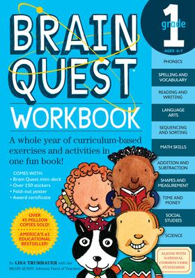 Brain Quest Grade 1 Workbook [With Stickers] 9780761149149