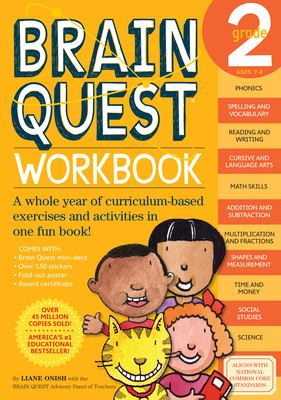 Brain Quest Grade 2 Workbook [With Stickers] 9780761149156