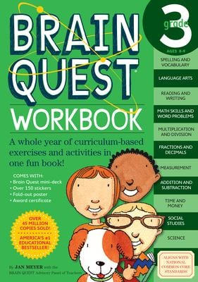 Brain Quest Grade 3 Workbook [With Stickers] 9780761149163