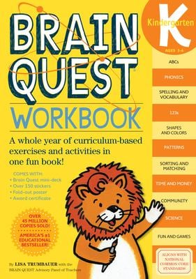 Brain Quest Kindergarten Workbook [With Stickers] 9780761149125