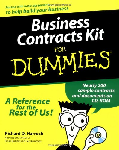 Business Contracts Kit for Dummies [With CDROM] 9780764552366