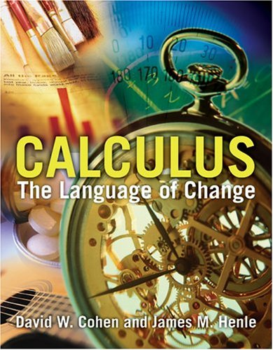 Calculus: The Language of Change 9780763729479
