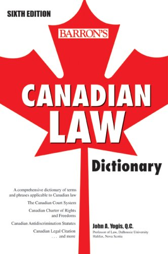 Canadian Law Dictionary 9780764139802