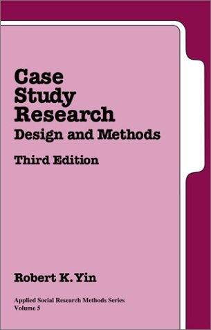 Case Study Research: Design and Methods 9780761925521