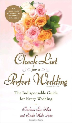 Check List for a Perfect Wedding, 6th Edition 9780767912334