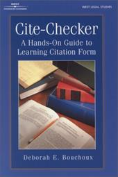 Cite Checker: A Hands-On Guide to Learning Citation Form - Bouchoux, Deborah E.