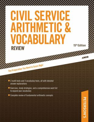 Civil Service Arithmetic & Vocabulary Review 9780768916973