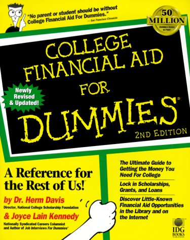 College Financial Aid for Dummies 9780764551659