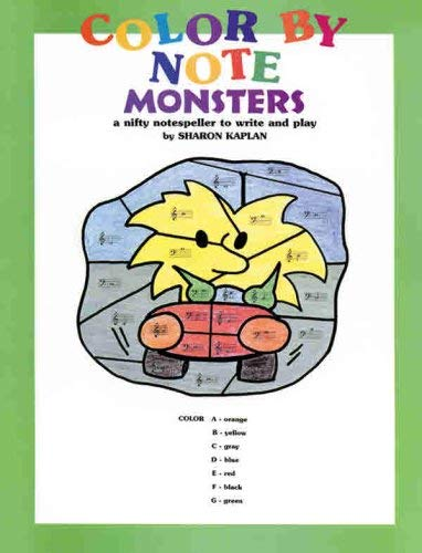 Color by Note Monsters: Coloring Book