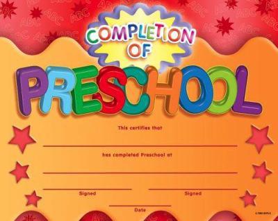Preschool certificate of completion fieldstation preschool certificate of completion yadclub Choice Image