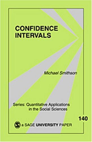 Confidence Intervals 9780761924999