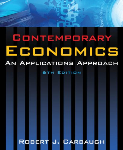 Contemporary Economics: An Applications Approach 9780765624888