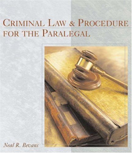 Criminal Law and Procedure for the Paralegal 9780766822795