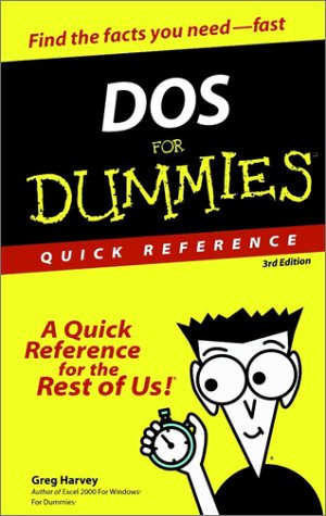 DOS for Dummies Quick Reference 9780764503689