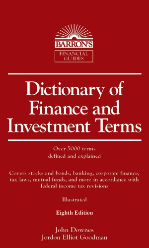 Dictionary of Finance and Investment Terms 9780764143045