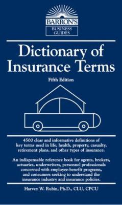 Dictionary of Insurance Terms 9780764138843