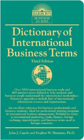 Dictionary of International Business Terms 9780764124457