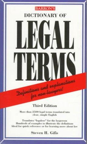 Dictionary of Legal Terms Dictionary of Legal Terms