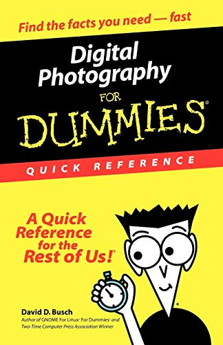 Digital Photography for Dummies: Quick Reference 9780764507502
