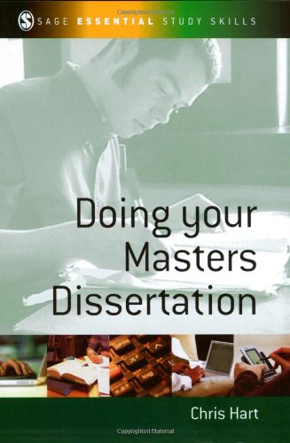 Doing Your Masters Dissertation 9780761942177