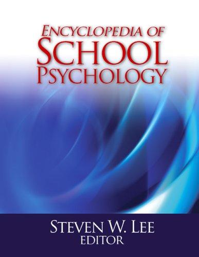 Encyclopedia of School Psychology 9780761930808