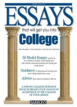Essays That Will Get You Into College 9780764142109