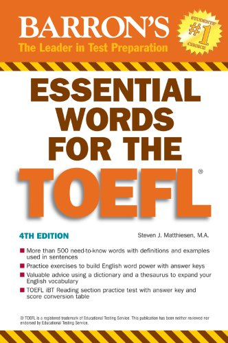 Essential Words for the TOEFL 9780764136405