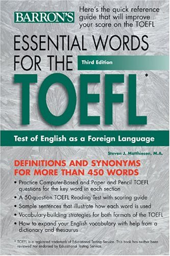 Essential Words for the TOEFL 9780764120251