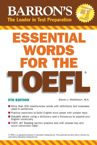 Essential Words for the TOEFL 9780764144776
